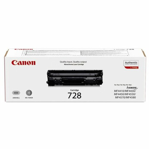 Заправка картриджа Canon 728 для аппаратов AX-L150, FAX-L170, FAX-L410, MF-4410, MF-4430, MF-4450, MF-4550, MF-4570, MF-4580, MF-4730, MF-4750, MF-4780, MF-4870, MF-4890, PC-D520, PC-D550