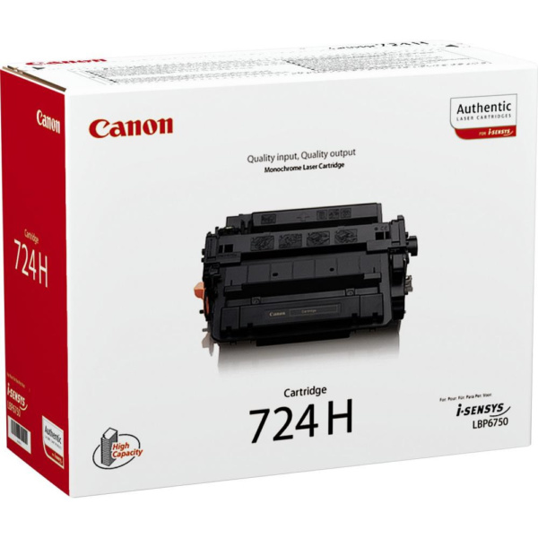 Заправка Лазерного картриджа Canon 724H (3482B002) для печатных устрйств: LBP6750Dn/MF515x/MF512x/MF419x/MF418 х/MF416wd