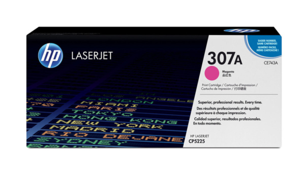Заправка картриджа HP 307A, пурпурный (CE743A) (для HP CP5220 / 5225)